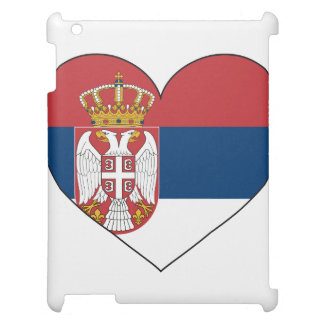 Enkel Serbia flagga iPad Mobil Fodral
