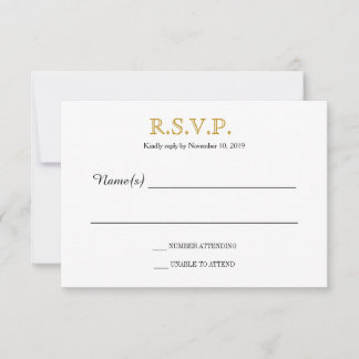 Simple Silhouettes RSVP card