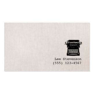 Enkel skrivmaskin för vintage för set av standard visitkort