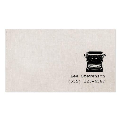 Enkel skrivmaskin för vintage för visit kort
