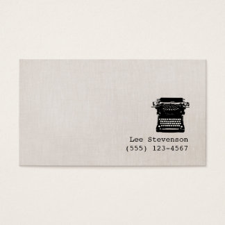 Enkel skrivmaskin för vintage för visitkort