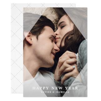 Enkel & slät fotohelgdag för nytt år 12,7 x 17,8 cm inbjudningskort