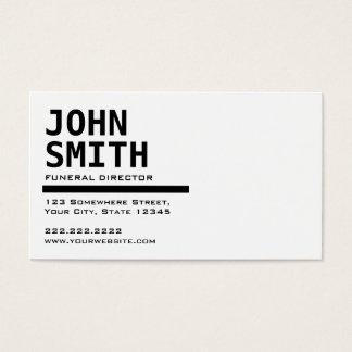 Enkel svart- & vitbegravningvisitkort visitkort