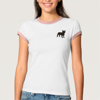 Enkel T-tröja med den små hundsilhouetten T Shirts