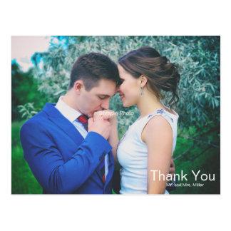 Enkel text överdrar brölloptack vykort