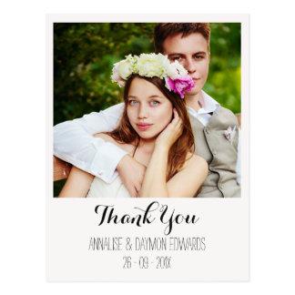 Enkel vykort för bröllopfototack