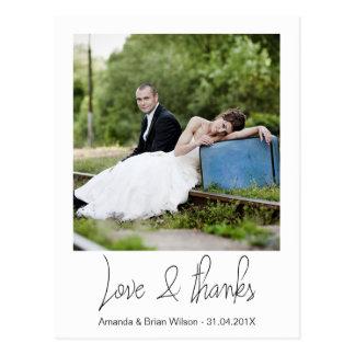 Enkel vykort för fotobrölloptack