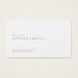 Enkel yrkesmässig möte påminnelse visitkort