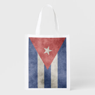 Enkelsidig KubaGrungeflagga Återanvändbar Påse