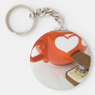 Enkelt bröllopförslag rund nyckelring