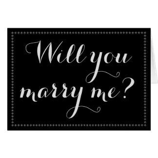 """Enkelt & eleganten """"ska dig att gifta sig mig?"""", hälsningskort"""