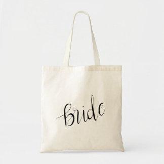 Enkelt elegantt brudtypografibröllop tygkasse