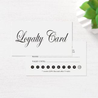 Enkelt elegantt kort för lojalitet för