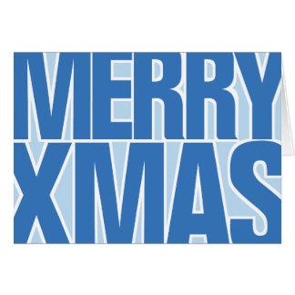 Enkelt ett stort kort för blåttgod julhälsningar