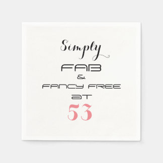 Enkelt FAB & UTSMYCKAT FRITT på 53 - Pappersservett