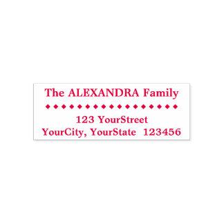 Enkelt familjefternamn, adress, diamantShapar Självfärgande Stämpel