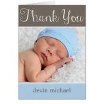 Enkelt förtjusande babytackkort hälsningskort