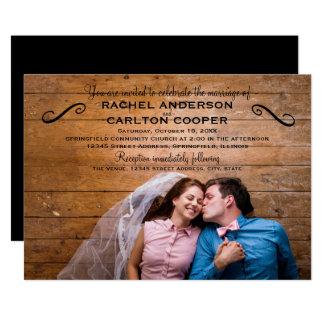 Enkelt foto - bröllopinbjudan 12,7 x 17,8 cm inbjudningskort