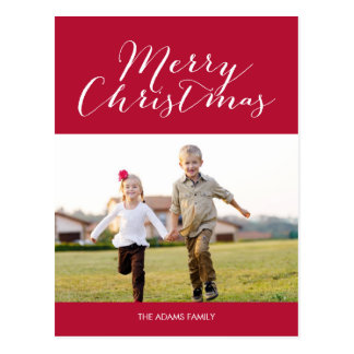 Enkelt glad vykort för helgdagfotokort