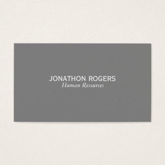 Enkelt (grått) visitkort