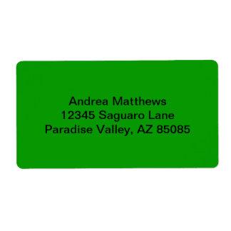 Enkelt grön fast färg fraktsedel