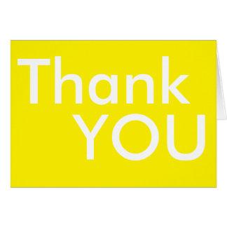 Enkelt gult tackkort hälsningskort