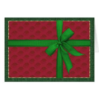 Enkelt julpaket hälsningskort