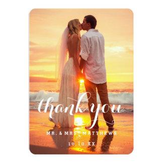 Enkelt kort för bröllopfototack 12,7 x 17,8 cm inbjudningskort