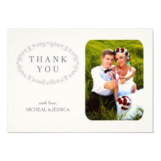 ENKELT kort för elegant bröllopfototack 12,7 X 17,8 Cm Inbjudningskort