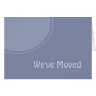 Enkelt ljust - blåttWeve rört meddelande Hälsningskort