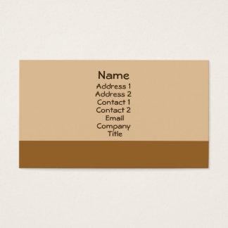 enkelt ljust - brunt visitkort