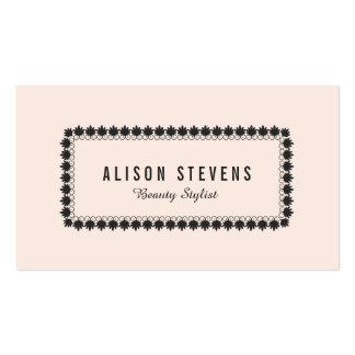 Enkelt ljust - rosa salong för skönhet för visitkort