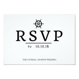 Enkelt nautiskt bröllop OSAkort 8,9 X 12,7 Cm Inbjudningskort
