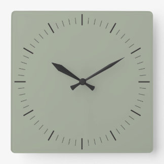 ENKELT noterar minimalisttimmar för STIL | och Fyrkantig Klocka