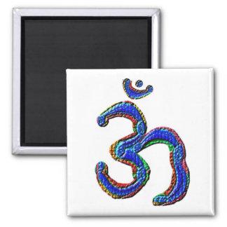 Enkelt OM-MANTRAsymbol Kylskåpsnagnet