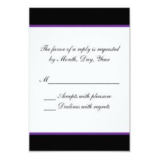 Enkelt purpurfärgat bröllop OSA 8,9 X 12,7 Cm Inbjudningskort