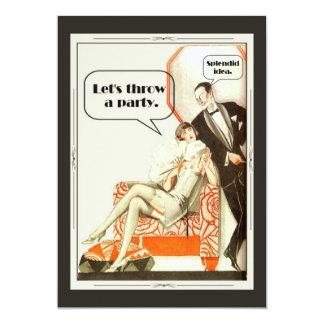 Enkelt sagolikt art décoparty 12,7 x 17,8 cm inbjudningskort