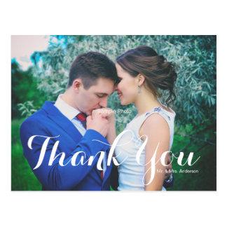 Enkelt skriva vykortet för fotobrölloptack vykort