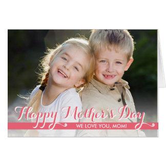 Enkelt sött mors dagfotokort OBS kort