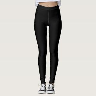 Enkelt svart fast färg skräddarsy det leggings