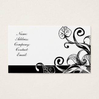 enkelt svartvitt visitkort