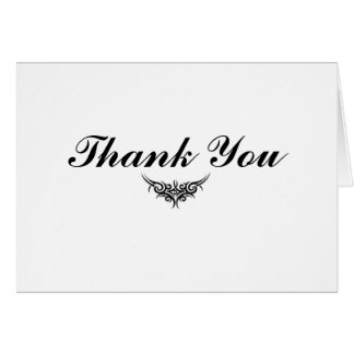 Enkelt tackkort hälsningskort