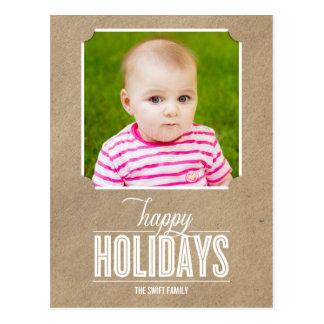 Enkelt tillverkad vykort för helgdagfotokort