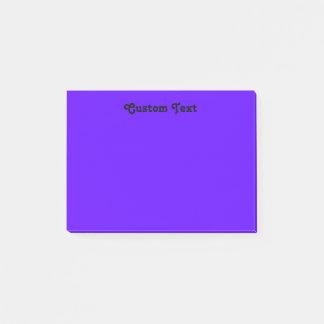 Enkelt violett/indigoblått post-it block