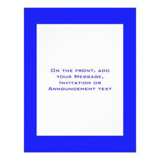 enkla blått reklamblad