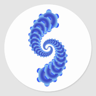 Enkla blåttfractals runt klistermärke