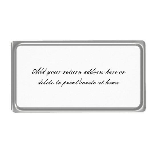 Enkla etiketter för brevskickande för silvergrå fraktsedel