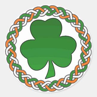 Enkla festliga klistermärkear för Celtic irländsk Runt Klistermärke