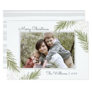 Enkla gräs, julfotokort 12,7 x 17,8 cm inbjudningskort