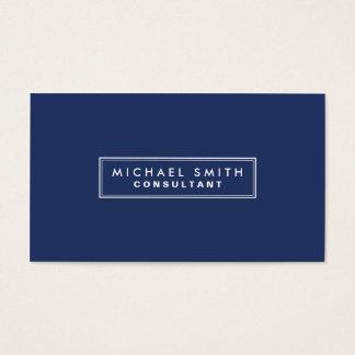 Enkla moderna blått för yrkesmässig elegantslätt visitkort